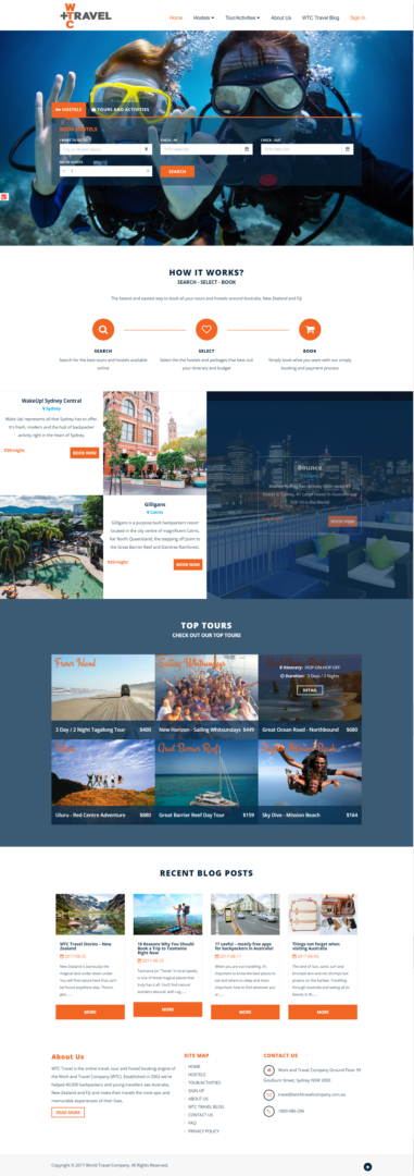 WTC Travel Website